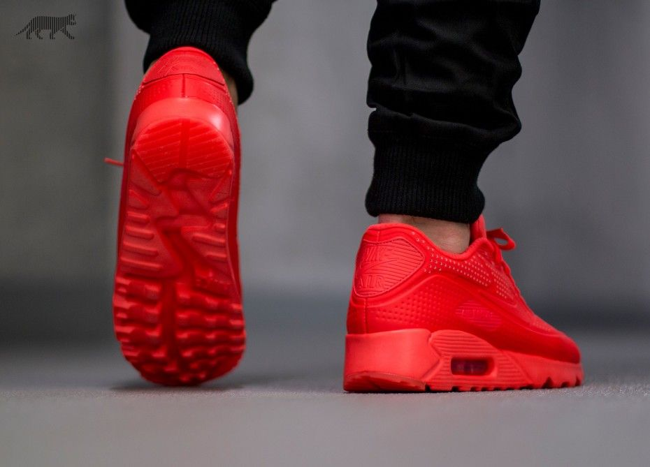 on sale e56aa 9fbfc Nike Air Max 90 Ultra Moire (Bright Crimson   Bright Crimson - White)