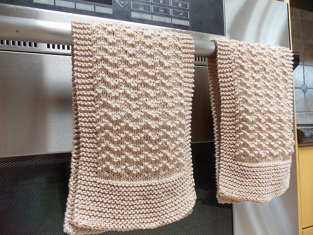 Scalloped Kitchen Towel Pattern By Lauren Klipp Free Knitting