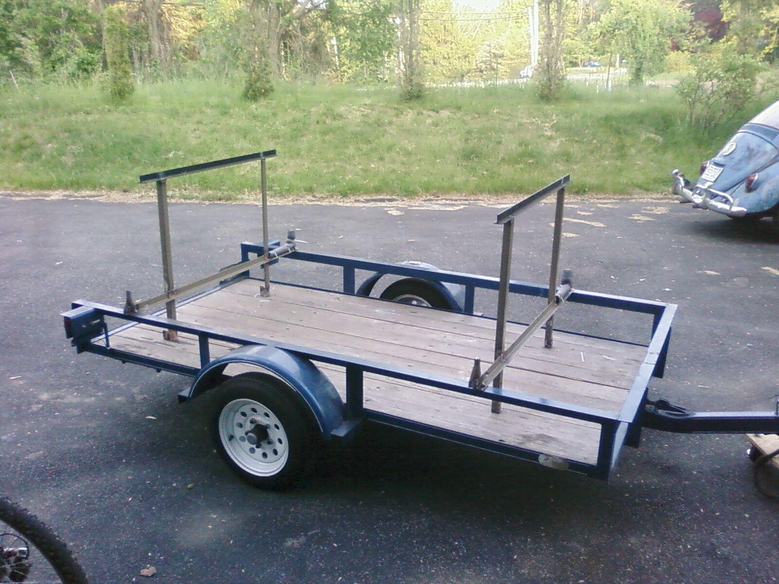 Canoe rack on trailer kayak trailer utility trailer