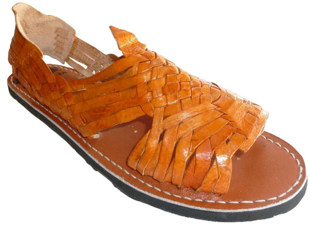 MEXICAN SANDALS Men\u0027s Huarache Sandals BY QUEBAJA , REDDISH BROWN