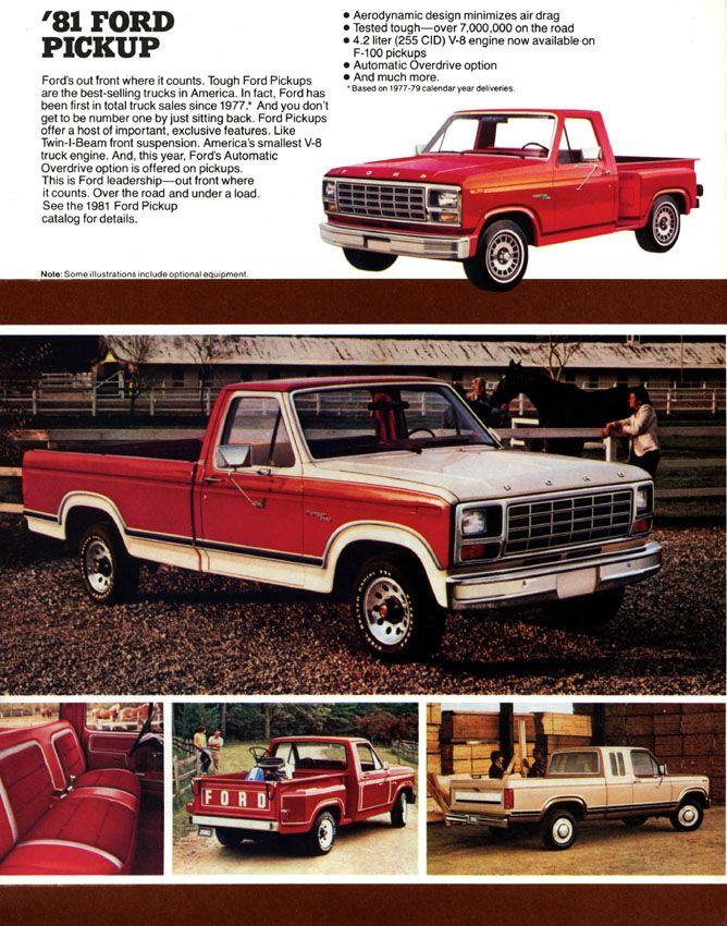 Ford Truck 1981 F Series F150 F250 F350 Bull Nose Original Brochure