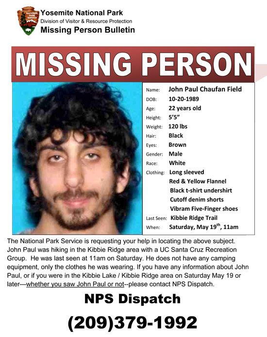 Yosemite National Park Missing Persons as well as yosemite - missing person flyer template