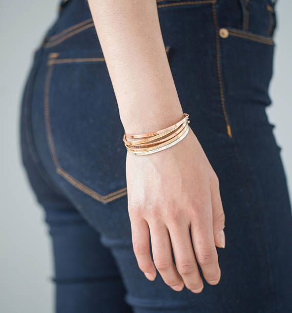 The Skinny Cuff Bracelet Is Stamped By Engraving Machine It Precious