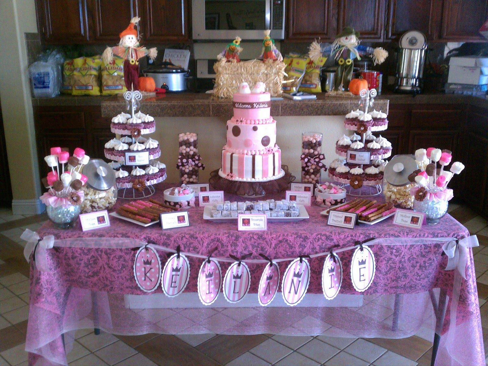 A Piece Of Cake: Pink And Brown Baby Shower