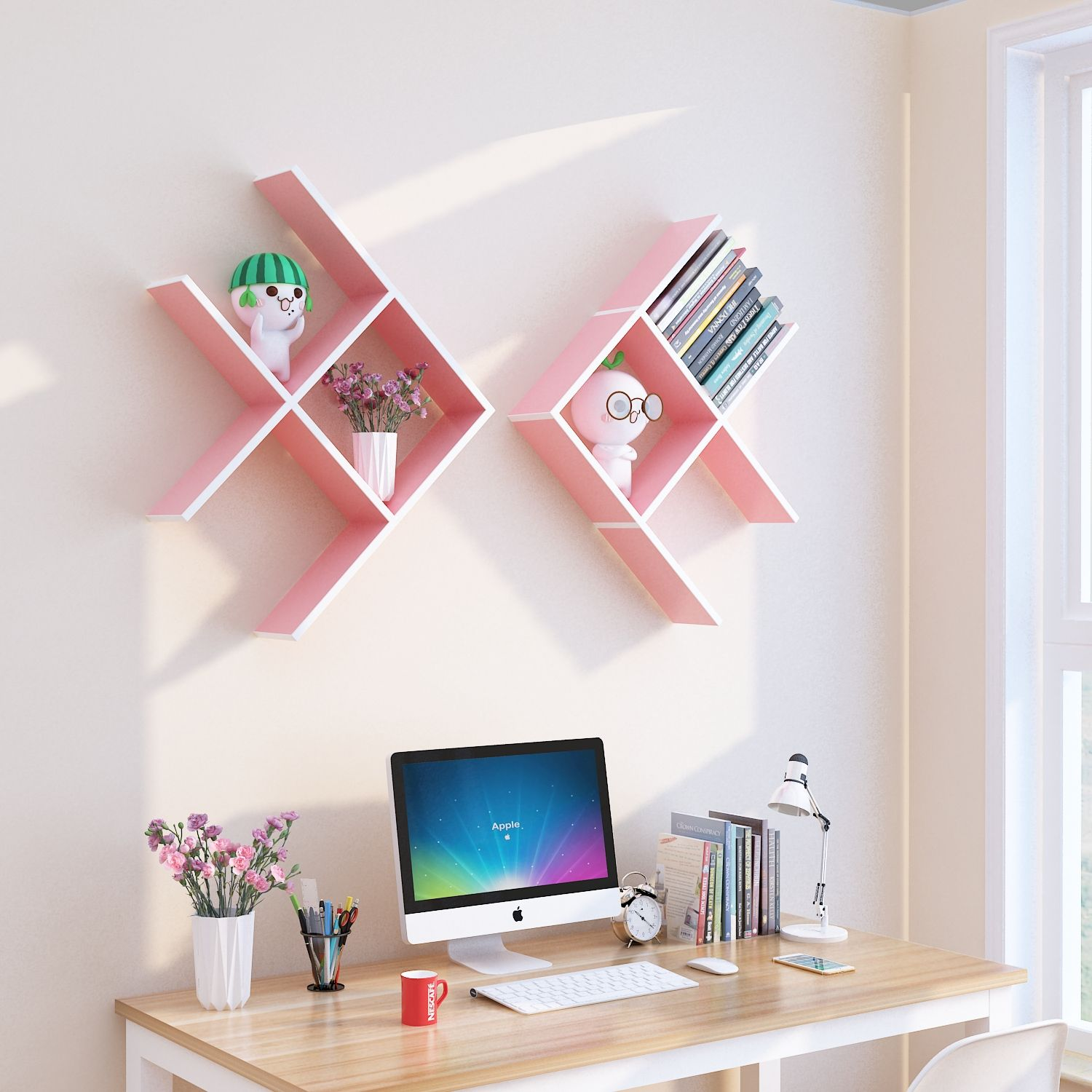 Pink Color Fish Shaped Wall Mounted Shelf In 2020 Wall Mounted Bookshelves Kids Bookshelf Organization Kids Wall Shelves