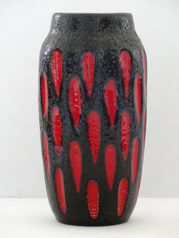Scheurich mid century red black fat lava beehive west german scheurich mid century red black fat lava beehive west german vase by pastercorte reviewsmspy
