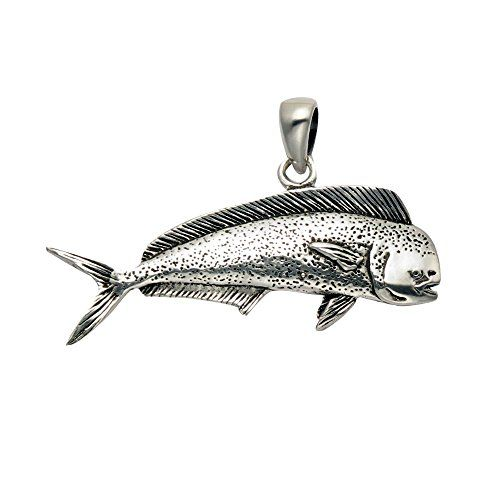 Sterling Silver Makau Fly Hook Fish Hook Necklace for Men Women Flawless Finish 1 3//16 inch with 1.2mm Box/_Chain