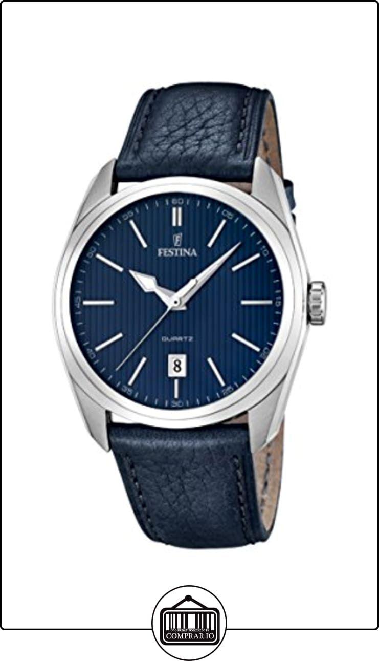 University Sports Press F16777 3 Reloj De Cuarzo Para Hombre Con Correa De Cuero Color Azul De Relojes Para Hombre Gama Media Alta