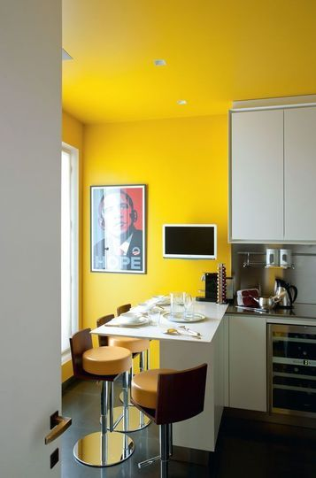 1000 images about ide cuisine on pinterest - Cuisine Blanche Mur Jaune