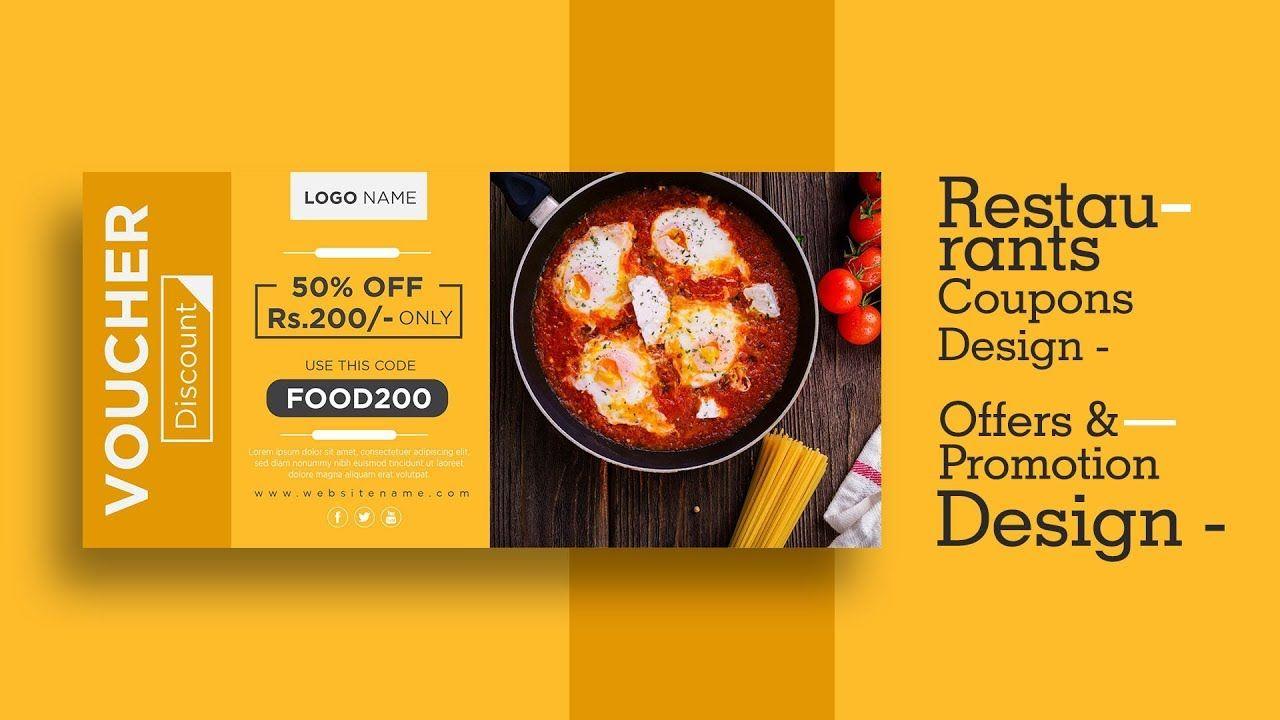 Restaurant coupons design in adobe illustrator cc #hotel #menuiserie #restaurant #food in 2021 | Coupon design, Voucher design, Restaurant coupons