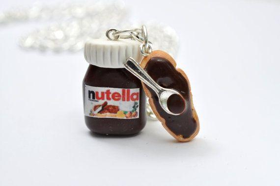 Collana Nutella-Fetta di Pane Toscano con di PetitMiniatures