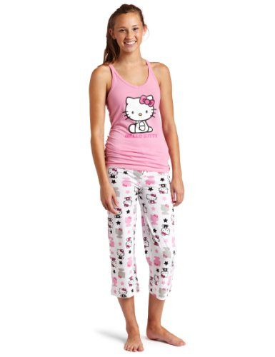 Hello Kitty Women's Color Me Pink 2 Piece Pajama Pant Set $26.00 ...