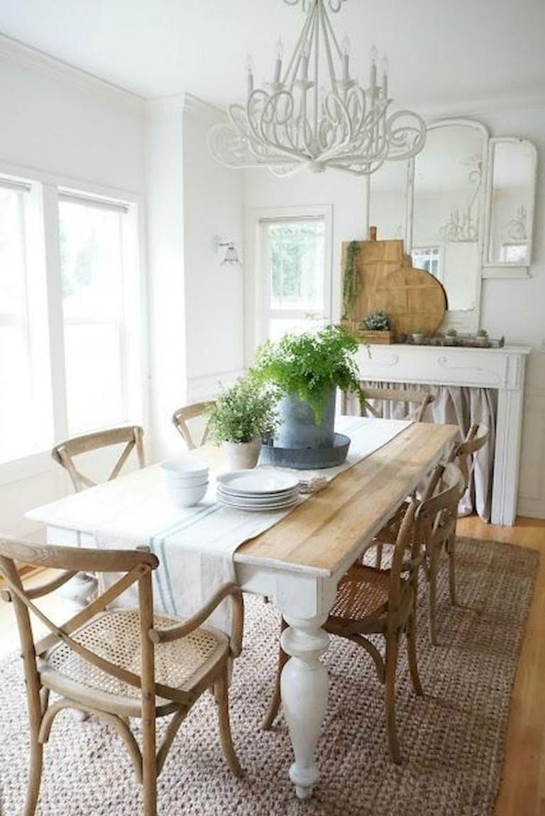 46 Popular Farmhouse Dining Room Design Ideas Trend 2019: 30 Beautiful Modern Farmhouse Dining Room Decor Ideas