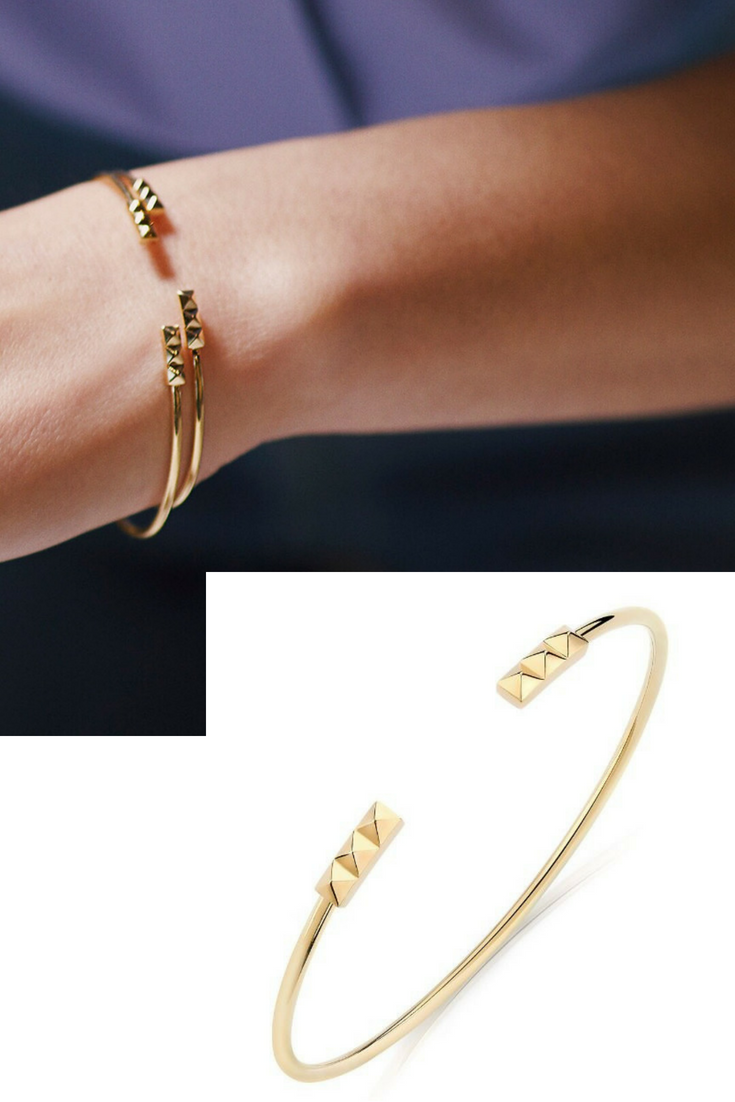 0c839529daf Birks Rock   Pearl Yellow Gold Pixel Cuff Bracelet Tailored to fit your  individual style