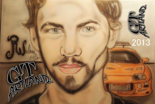 Paul Walker Airbrush by GT Artland 2013 Collectors edition