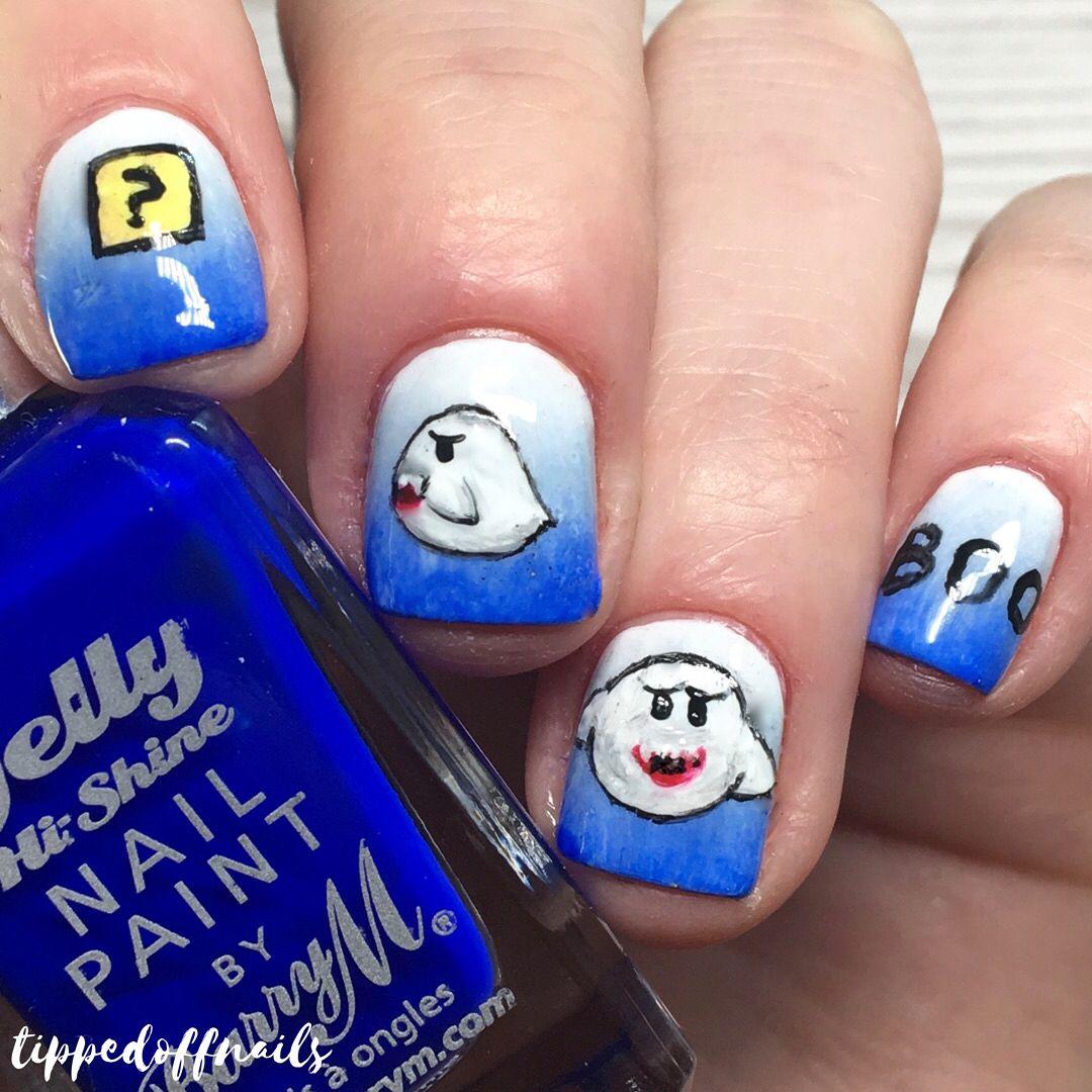 Big Boo - Super Mario Nail Art | Nail Art | Pinterest | Play super mario