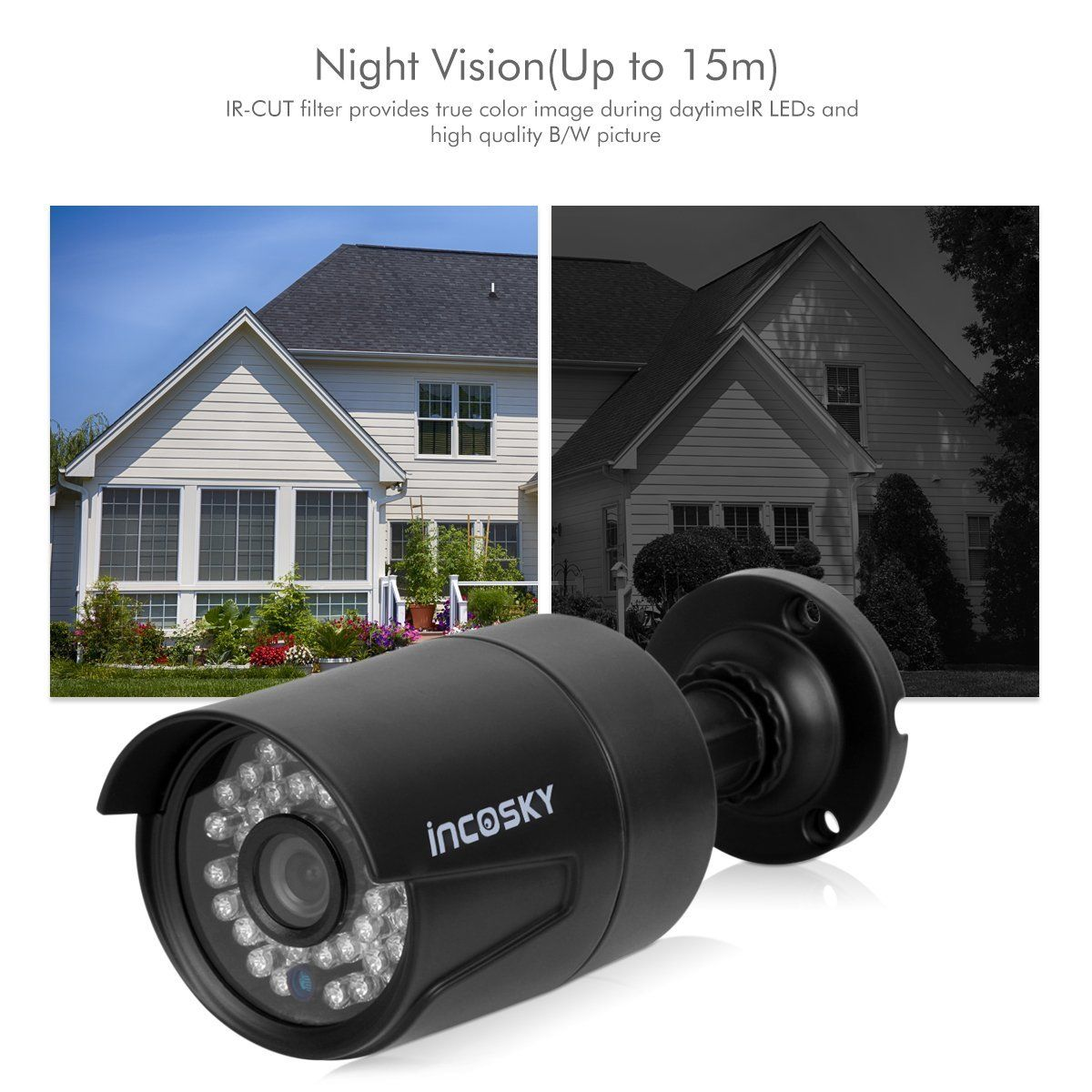 New Security In//Out Door 960P Wateproof Color CCTV IR Camera Night Wide Angle