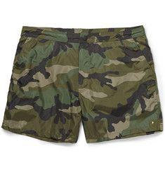 ValentinoCamouflage-Print Swim Shorts