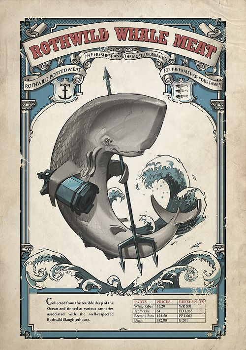 Dishonored Whales Products Advertisement Poster