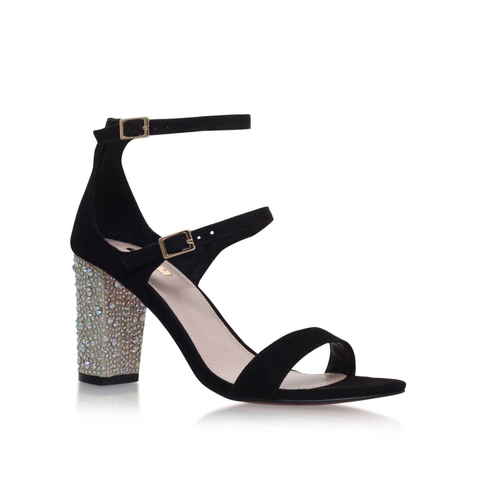 c330f9fbc46 geisha black mid heel sandals from Carvela Kurt Geiger