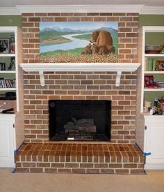 Use shelving to create the illusion of a Mantle