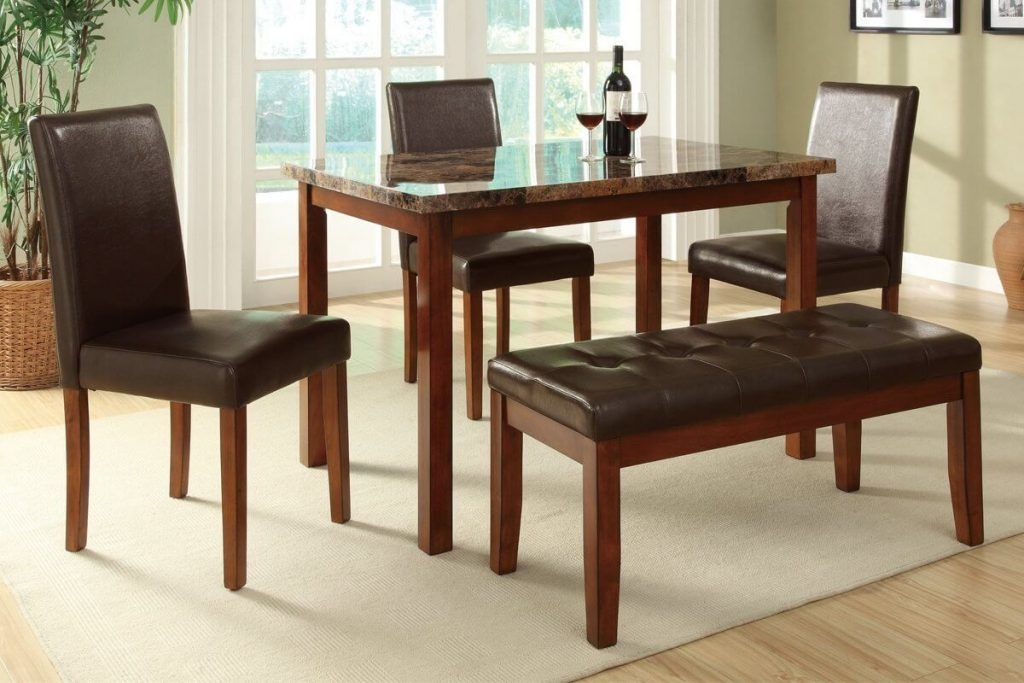 Dining Table Set With Bench Beautiful And Elegant Furniture