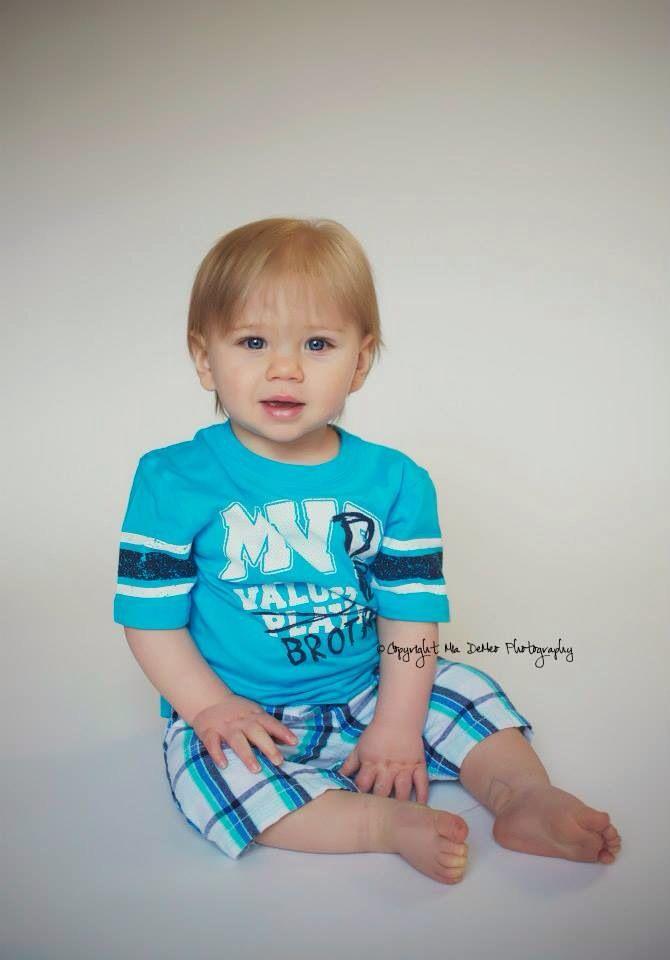 Precious One Year Old Boy Photos Blonde Hair Blue Eyed Cutie By