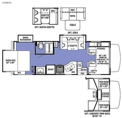 Floorplan Title Forest River Rv Rv World Tv In Bedroom