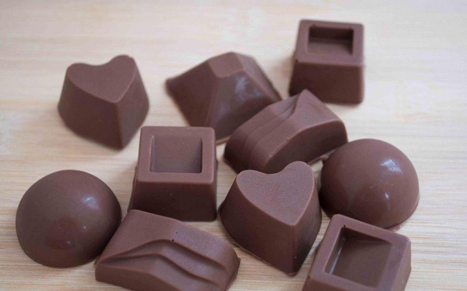 Chocolates made with my new chocolate mold, using El Rey chocolate.