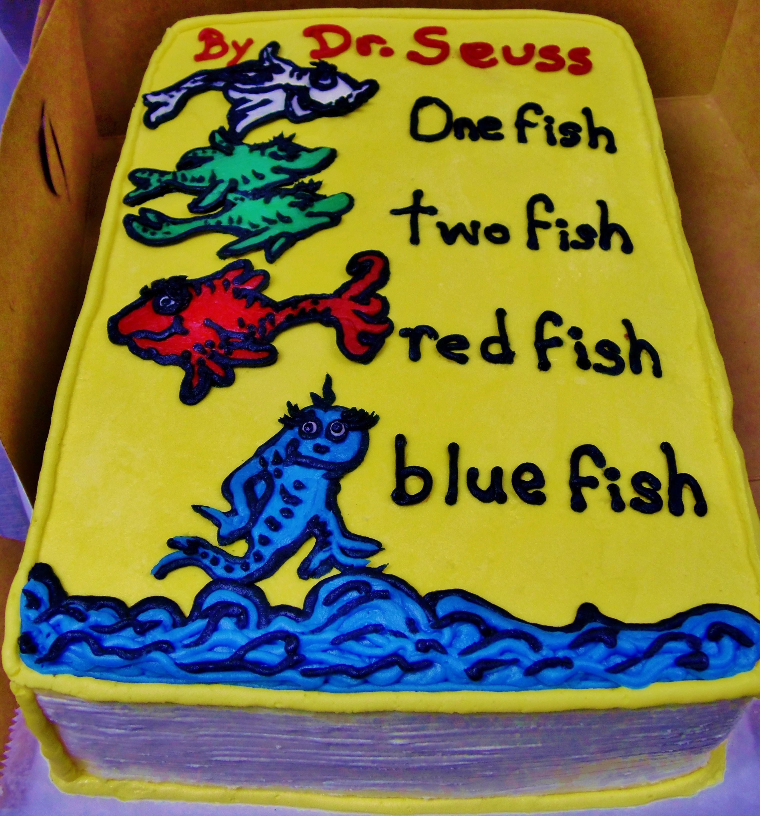 Dr Seuss Birthday Book Cake Design In 100 Buttercream Icing
