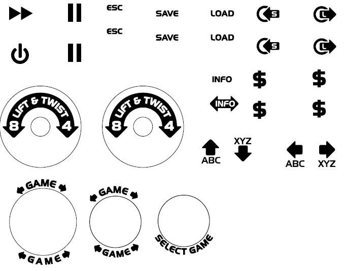 This is a picture of Printable Arcade Button Template in button 8 bit