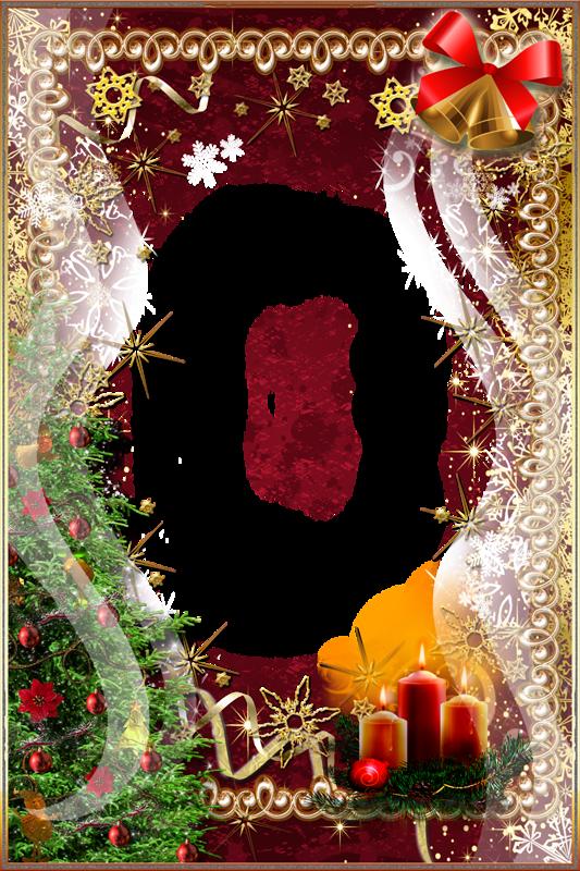 Открытки рамки для фото с рождеством христовым, природа животные россии