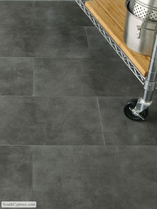 Concrete 12 X 12 Dark Gray Interceramic Flooring Dark