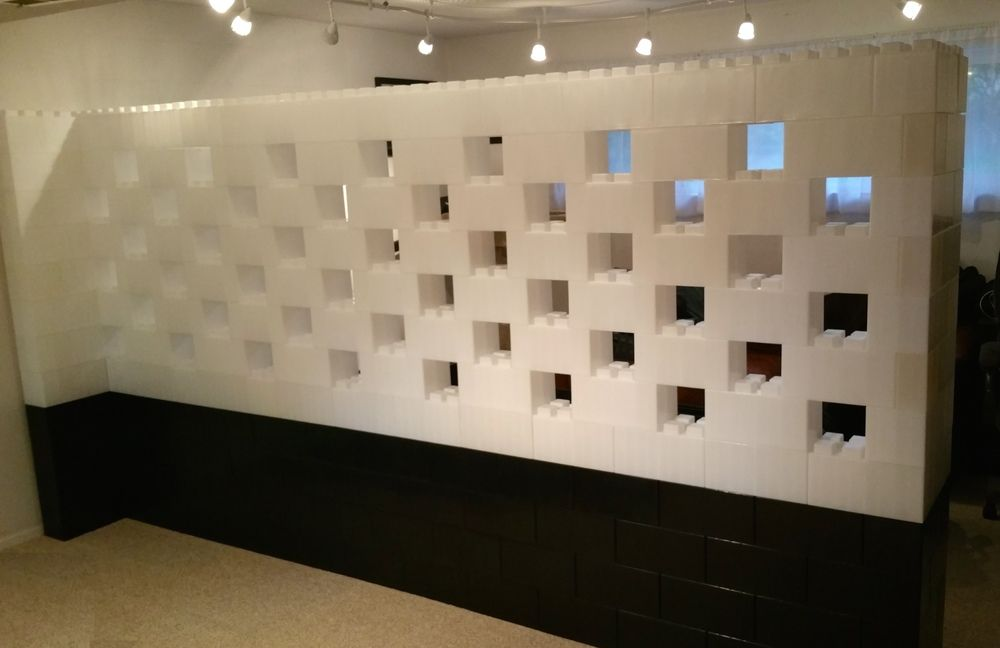 Modular wall systems like giant Legos available in colors too