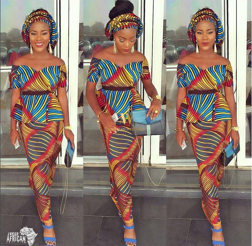 classy-ankara-styles-nigerian-wedding-mismatch-2-piece-peplum-top ...