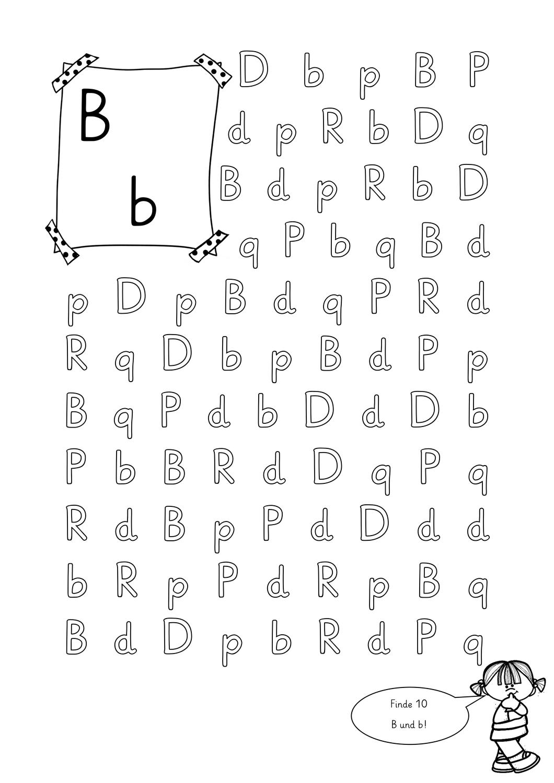 visuellle Differenzierung B/b – Unterrichtsmaterial im Fach ...
