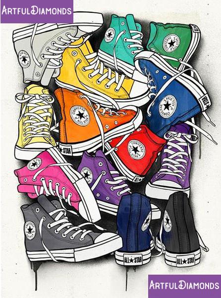 All Star Converse Shoes Diamond Painting Kit | Pop art, Art