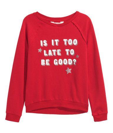 Top Ten Weihnachtsessen.Is It Too Late To Be Good Sweatshirt Christmas Weihnachten