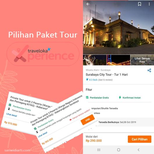 pilihan paket tour traveloka