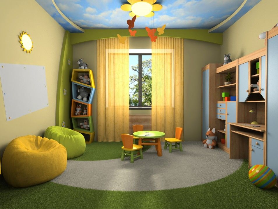 Green And Yellow Room Interior Ideas Terrific Pictures For Kids
