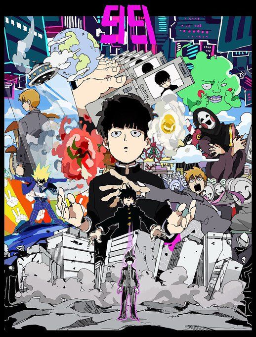 Mob Psycho 100 Anime Manga Wallscroll Poster Kunstdrucke Bider Drucke