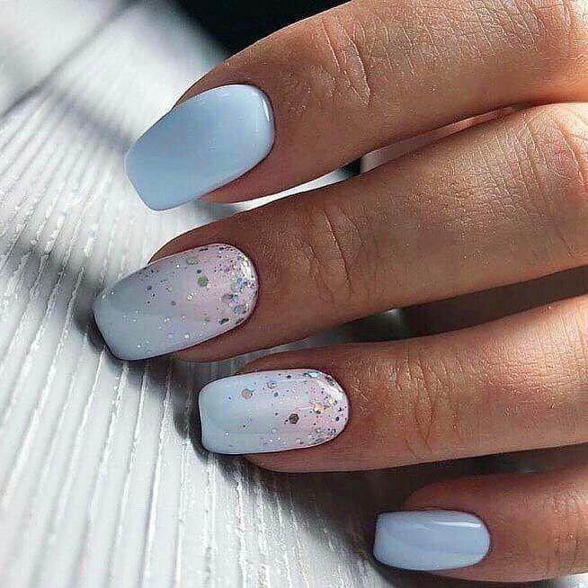 Top 50 Easy Nail Designs For Short Nails Square Acrylic Nails Blue Nails Simple Nails