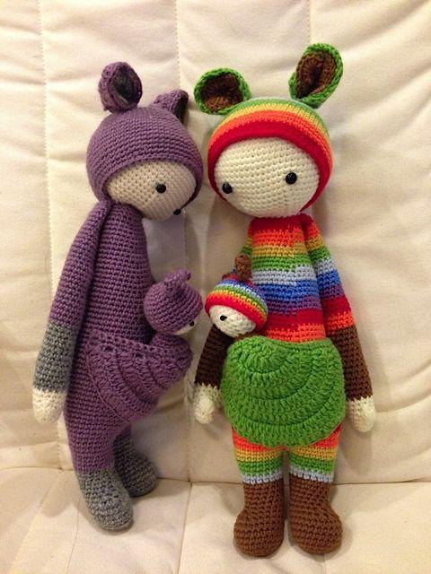 KIRA the kangaroo made by Debbie C. / crochet pattern by lalylala ...