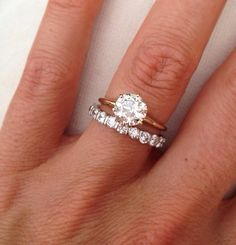 My Dream Ring Thin Rose Gold Band With Diamond For Engagement White Diamonds All Around It Wedding