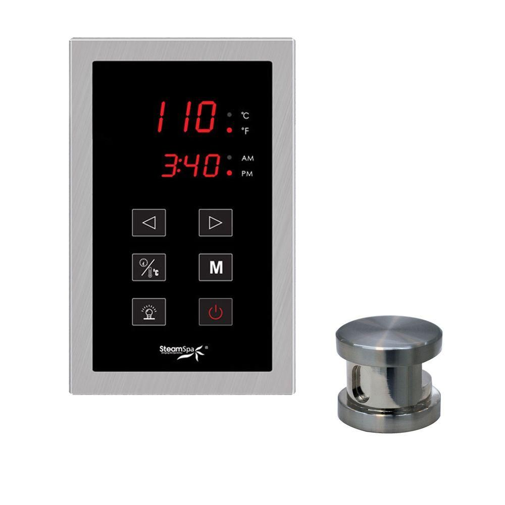 SteamSpa Oasis Touch Panel Control Kit in Brushed Nickel-OATPKBN - The Home Depot