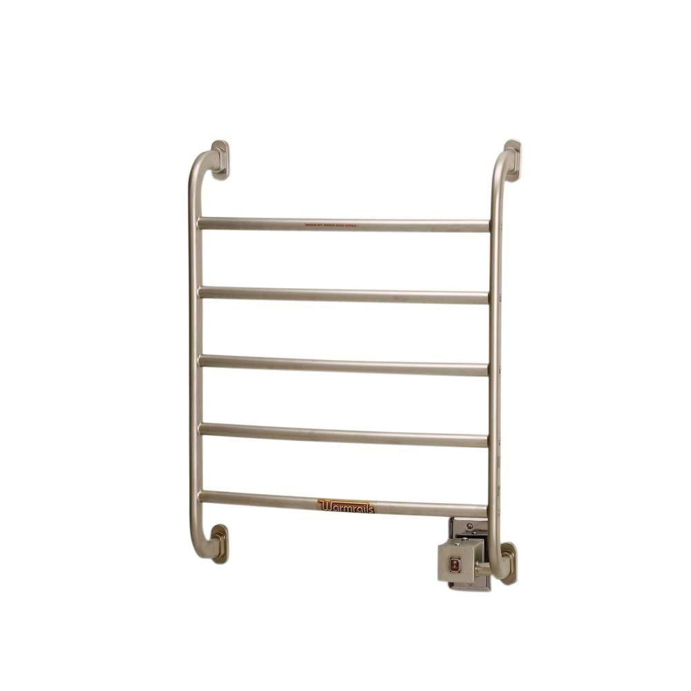 Warmrails Regent 24 In Towel Warmer In Satin Nickel Nickel Satin