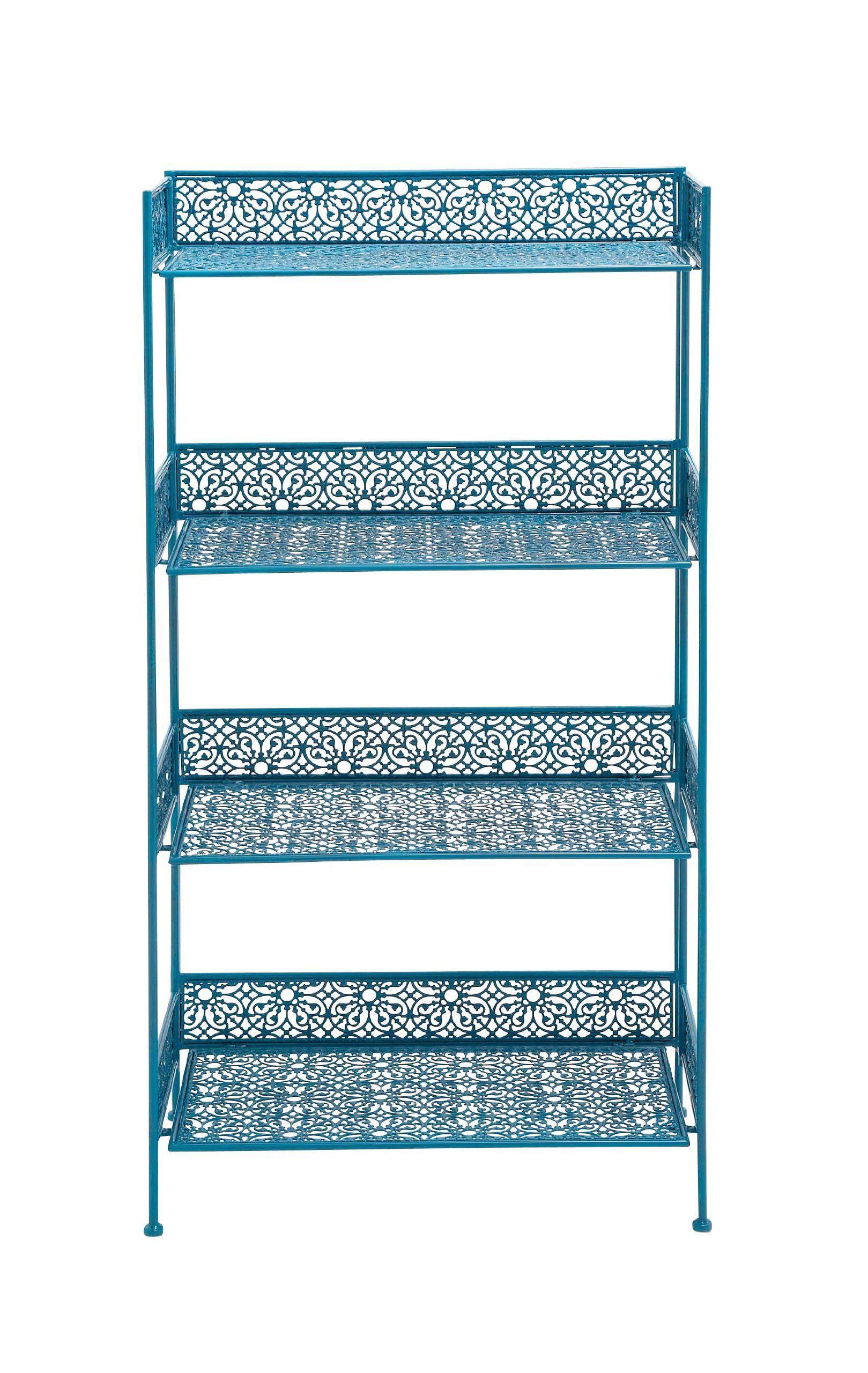 Amazon Com Benzara 96982 The Amazing Metal Baker Rack Blue