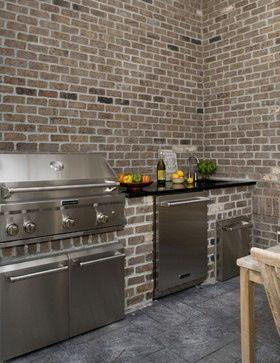 A Super Cool Idea For Thin Brick Old Mill Brickweb Thin Brick Is Made From The Highest Quality Real Clay Brick Brickweb Is Kitchen Kabinets Brick Thin Brick