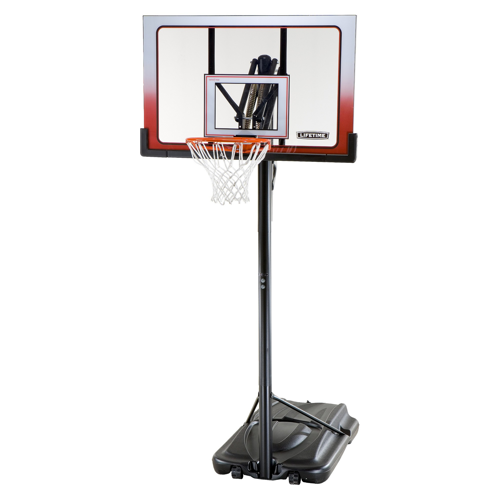 lifetime action grip 52 portable basketball hoop black hyper orange