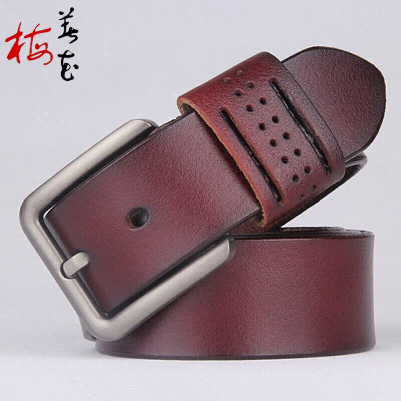 e7ed374a6 Aliexpress.com : Buy New Designer Retro Style Belt Mens Luxury Pierced  Genuine Leather Belts